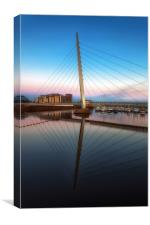 Swansea Millennium bridge , Canvas Print