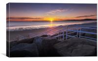 Aberavon beach sunset, Canvas Print