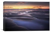 Aberavon beach puddles, Canvas Print