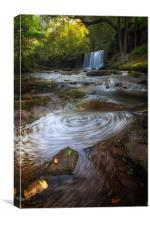 Sgwd Ddwli Uchaf waterfalls South Wales, Canvas Print