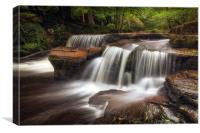 Pont Cwmyfedwen waterfall, Canvas Print