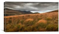 The Brecon Beacons in south Wales., Canvas Print