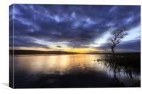 Broad Pool at sunset, Canvas Print