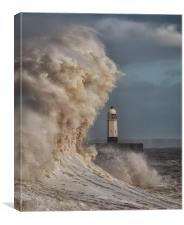 In the jaws of Hurricane Ophelia, Canvas Print