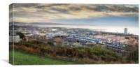 Swansea City Centre and East Side, Canvas Print