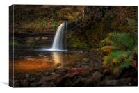 Lady Falls Sgwd Gwladus waterfall, Canvas Print