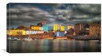 Tenby harbour Pembrokeshire, Canvas Print