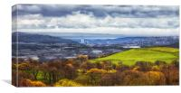 Swansea and Mumbles, Canvas Print