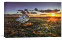 Arthur's stone at sunset, Canvas Print