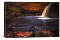 Sgwd Gwladus waterfall AKA Lady Falls , Canvas Print