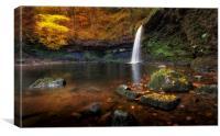 Autumn at Sgwd Gwladus Lady falls, Canvas Print