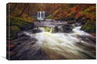 Sgwd yr Eira waterfalls, Canvas Print