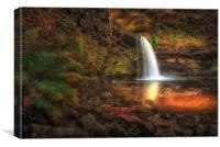 Sgwd Gwladus waterfall AKA Lady Falls , Canvas Print