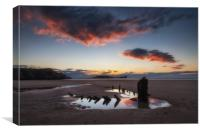 The wreck of the Helvetia and Worms Head, Canvas Print