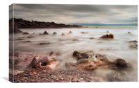 Rotherslade Bay rocks, Canvas Print
