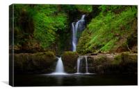 Sgwd Einion Gam waterfall, Canvas Print
