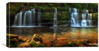 Sgwd y Pannwr Waterfalls, Canvas Print
