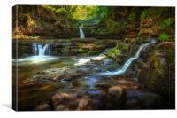 Sgwd Isaf Clun-gwyn waterfalls, Canvas Print