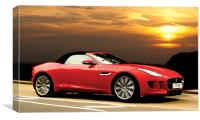 F Type Jaguar - A beautiful Cat, Canvas Print