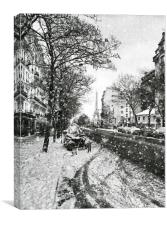 Paris Street winter, Canvas Print