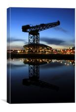 Glasgow Hydro and crane, Canvas Print