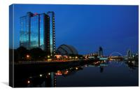 river clyde at night, Canvas Print