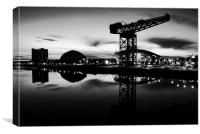 Glasgow secc and the new Hydro building, Canvas Print
