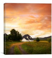 Blackrock Cottage Glen Coe, Canvas Print