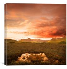 Glen Coe Mountain Range, Canvas Print