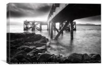 Portencross Pier in Ayrshire, Canvas Print