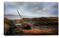 Portencross boat , Canvas Print