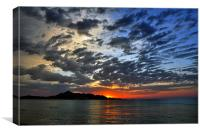Majorcan Sunrise, Canvas Print