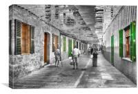 Old Town,Alcudia,Majorca., Canvas Print