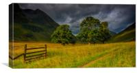 Early Morning Light,Glencoe,Scotland, Canvas Print