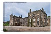 Artwork of Majestic Ripley castle, Canvas Print