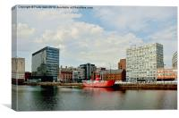 Canning Dock East & Planet, Canvas Print