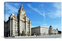 Liverpools Iconic Waterfront - The Three Graces, Canvas Print