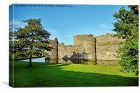 Beaumaris castle, western elevation, Canvas Print