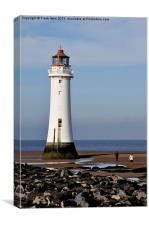 Perch Rock lighthouse at New Brighton, Canvas Print