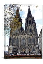 Cologne Cathedral Frontage, Canvas Print