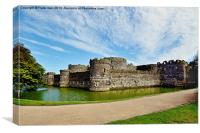 Beaumaris castle, Anglesey, N. Wales, Canvas Print
