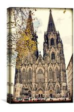 The magnificent Cologne Cathedral (grunge effect), Canvas Print