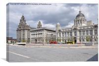Liverpools Three Graces, Canvas Print