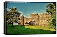 Beaumaris Castle, grunged effect, Canvas Print