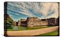 Anglesey's ancient Beaumaris castle, Canvas Print