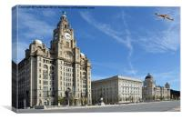 Liverpools Three Graces, Canvas Print