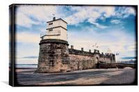 Fort Perch Rock, New Brighton, Wirral (Grunge effe, Canvas Print