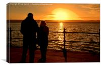 Sunset viewed from West Kirby, Wirral, UK, Canvas Print