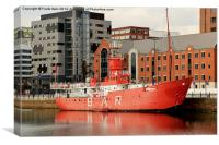 Planet, the old Liverpool bar Lightship, Canvas Print