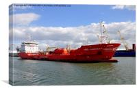 MRC Emirhan in Birkenhead Docks UK, Canvas Print